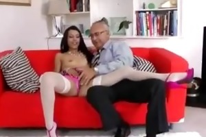 honey in nylons sucks old man