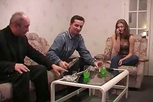 aged chap and guy have a fun men girlfriend