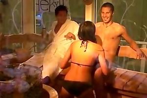 large brother sauna oral-job
