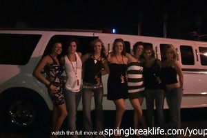 7 hawt gils flashing real amateur limo public