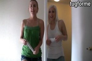 sister and blonde busting jacking off jo