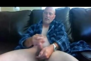 lascivious sexy dad jerkin and shootin cum