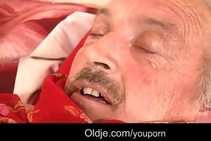 juvenile angel pussy-nursing old dude