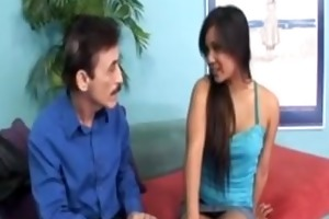 oriental mother and daughter share pounder