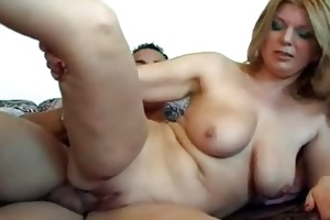 enormous chested mature ladie receives rammed by