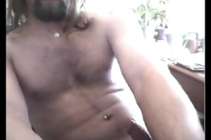 str8 furry chested daddy discharges a worthwhile