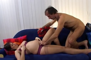 daddy fuck daughters ally preggy