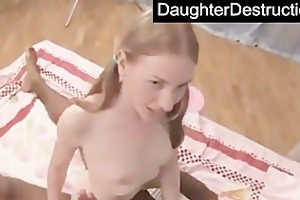 daughter throat and muff drilled hard