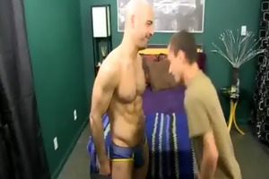 fascinating dad and lustful son fuck with adam