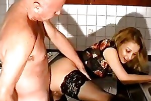 old fellows copulates a younger hotties