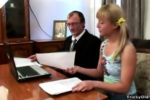 horny schoolgirl copulates her teacher to receive