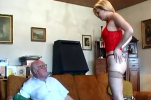 old grandpapa bonks young blond