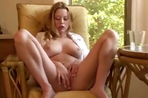 girl plays with 2 dildos