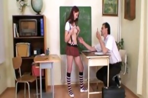 schoolgirl legal age teenager blows her teacher