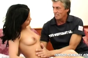 old cock finds a youthful hotty