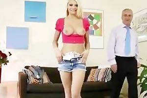juvenile blond angel foreplaying