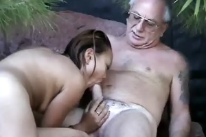 uncle jesse acquires his cock sucked by oriental