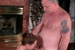 sybian riding wench sucks uncle jesses old schlong