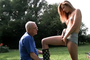 grandpapa cleans and fuck alexis\s bald cum-hole