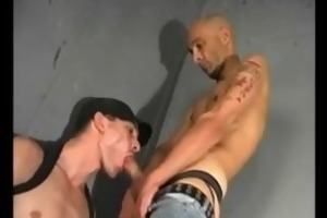sexy hung older skinhead sucks,gets sucked,rims