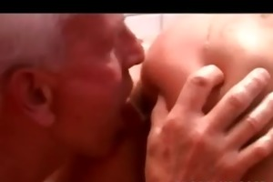 grand-dad fucking & licking a breasty legal
