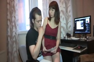 boyfrend looks at his gf sex