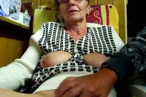 grandad masturbates his wife with fingers