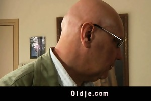 old husband catches youthful wife masturbate and