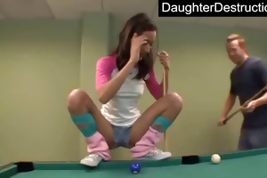 ravishing teen daughter copulates like a pro