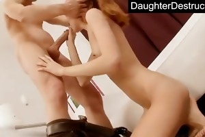 pigtailed legal age teenager daughter fucked hard