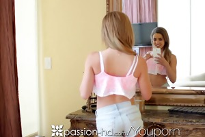 passion-hd teen take threesome hot selfies for
