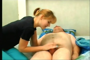 old chap makes love to caretaker (part 2 of 3)