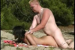 18yo angel drilled by voyeur at beach