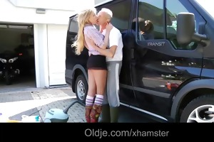 fortunate oldman copulates exqusite blonde legal
