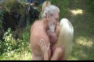 bearded oldman some with golden-haired nubiles