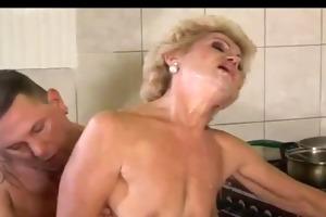old bitch bonks with a juvenile lad