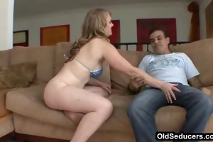 step-dad enticed by legal age teenager tits