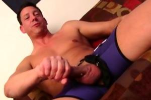 hawt straight chap ryan masturbating