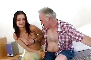 old guy seducing youthful gal