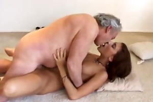 youporn - chunky old bastard copulates a sexy