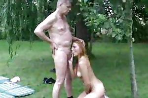 old freak banging a hawt young cum-hole