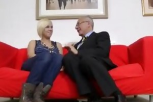 golden-haired in nylons and old fellow