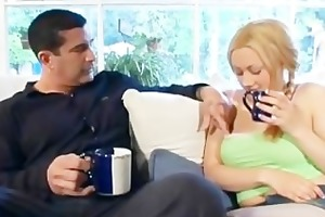 sexually excited father eats out babysitters fur