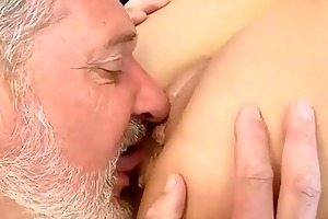 old lad copulates hot youthful cutie